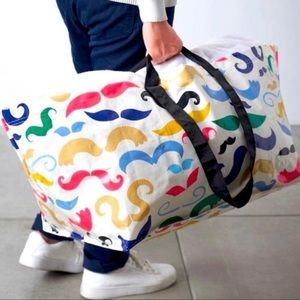 Limited Edition Colorful Mustache Ikea Tote